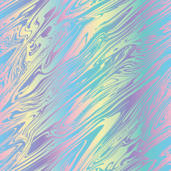 Rainbow striped marble variegated bleed ink holographic pearlescent opalescent geometric seamless repeat vector pattern swatch.