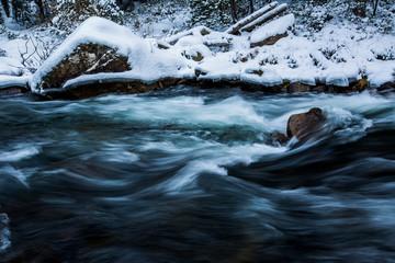 Winter in Tet river, Capcir, Pyrenees, France