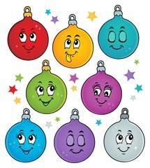 Poster Voor kinderen Happy Christmas ornaments theme image 1