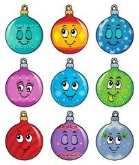 Poster Voor kinderen Happy Christmas ornaments theme image 2