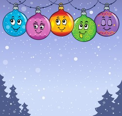 Poster Voor kinderen Happy Christmas ornaments theme image 5
