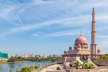 View of Putra Mosque (Masjid Putra) in Putrajaya, Malaysia Wall mural