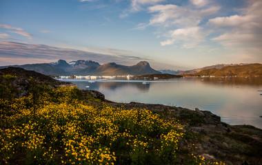 Summer sunset in Narsaq, Greenland