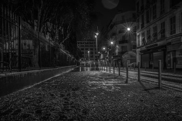 Fotomurales - Streets of the French city of Nice with snow