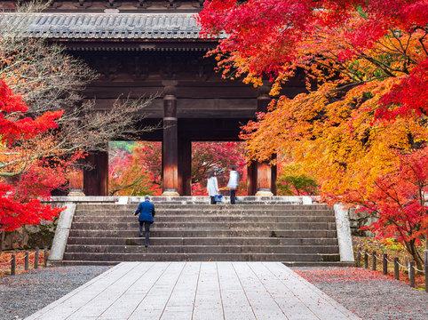 秋の京都 南禅寺 三門