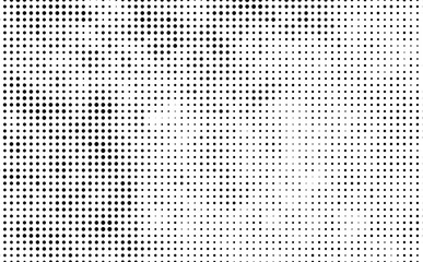 The texture of halftone. Abstract background of black dots on white