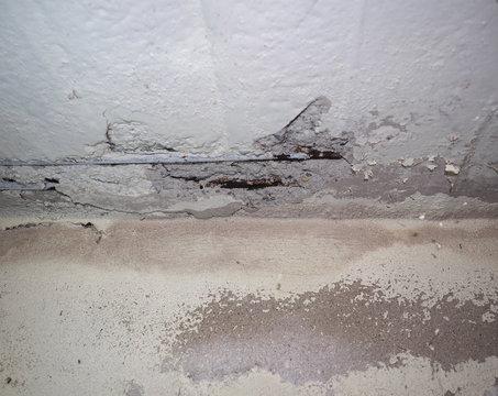 damaged reinforced concrete rebars