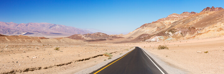 Road through the desert of Death Valley National Park Wall mural