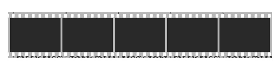Five photo camera blank frames. Camera roll