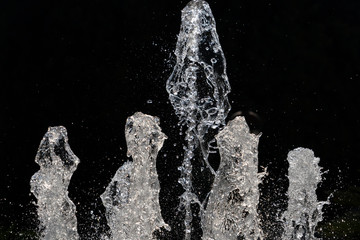 fountain splash water detail close up