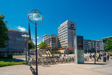 DORTMUND, GERMANY - June 9, 2019: Main train station in Dortmund, Germany