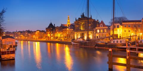 City of Haarlem, The Netherlands at night