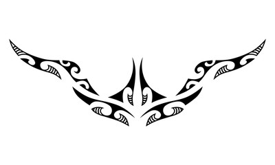 Tattoo maori design for belly, low back, chest. Art tribal tattoo.