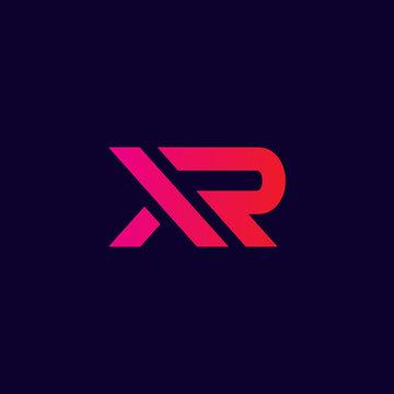 abstract xr logo , modern letter xr logo initials
