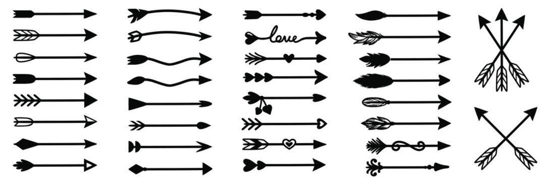 Arrow hand drawn