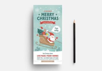 Christmas Card with Santa's Sleigh