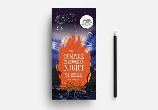 Bonfire Night Card Layout