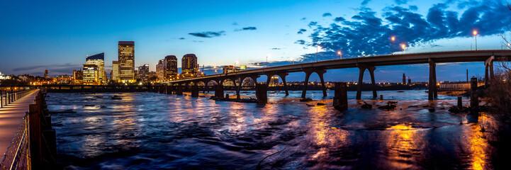 Richmond, VA skyline at daybreak