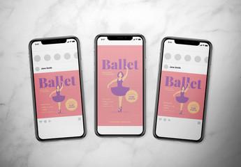 Ballet Event Social Media Post Layout Set