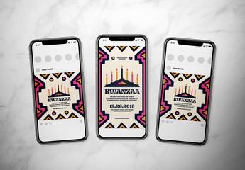 Kwanzaa Event Social Media Post Layout Set