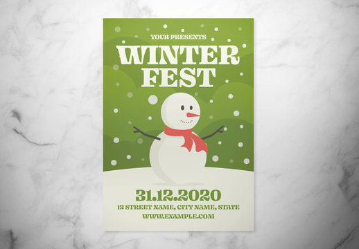 Winter Festival Event Flyer Layout