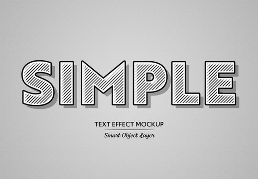 Black Bold Text Effect with White Lines