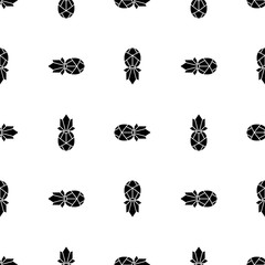 Vector seamless pattern with pineapples. Simple geometric background