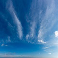 Fotobehang Blauwe hemel Fantastic dark thunderclouds at sunrise