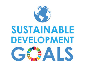Corporate social responsibility logo. Sustainable Development Goals - United Nations vector illustration. SDG color icon.