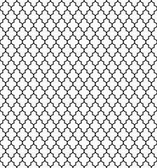 Arabic seamless pattern grid lantern shapes tiles.
