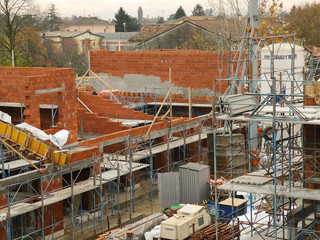 costruzione villette cantiere edilizio