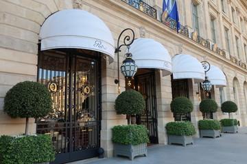 Façade de l'hôtel de luxe Ritz à Paris, place Vendôme – 26 octobre 2019 (France)