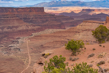 Canyonlands National Park, Utah, USA. Stunning canyons, mesas, and buttes eroded by the Colorado, Green and tributary rivers