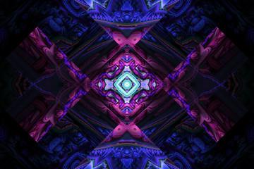 Black purple UV fractal graphic geometric shapes beautiful wallpaper background logo cover backdrop