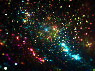 Bright colorful cosmos background - abstract digitally generated image