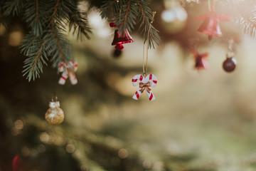 Święta, Boże Narodzenie, ozdoby, bombki, choinka
