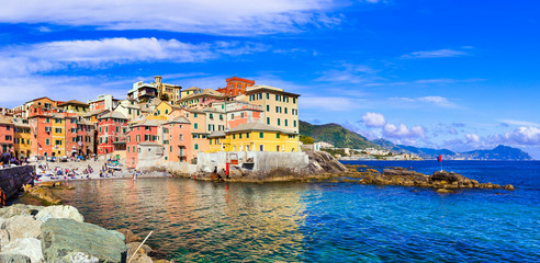 Beautiful villages of Italy - colorful coastal Boccadasse in Genova, Liguria