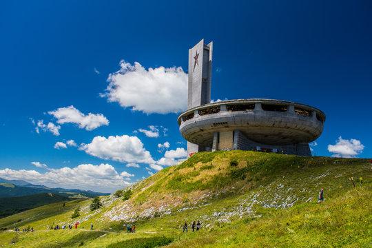 Buzludzha monument built by the Bulgarian communist regime.