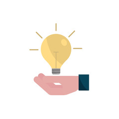 hand with bulb idea property intellectual copyright icon