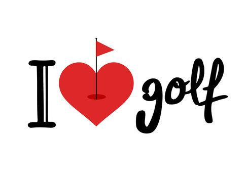 I love golf symbol