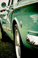 Poster Vintage voitures Vintage Collectable car Crome aqua