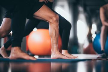 sport trainer concept in sport gym