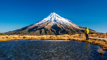 View of Mt. Taranaki (Mt. Egmont), New Zealand