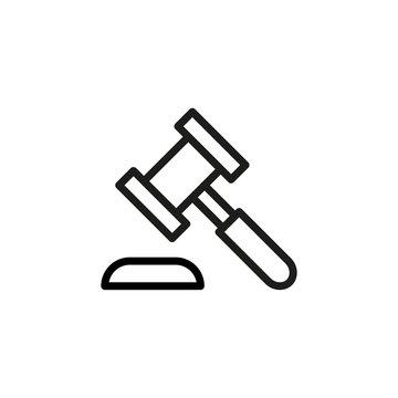 Simple auction line icon.