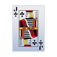 jack of club card icon, flat design