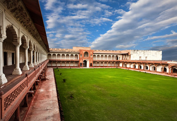 Courtyard in Agra Fort