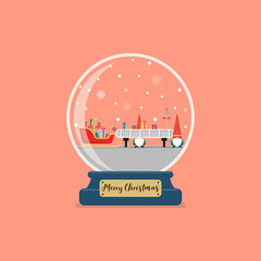 Christmas glass ball with santa factory