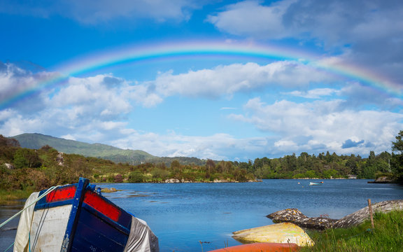 Rainbow over Bantry Bay in Ireland