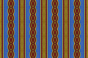 Colorful pattern of a twisted African fabric
