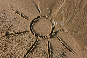 Picture on the sand